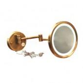 Kосметическое зеркало в бронзе с подсветкой( rp-2445BR)
