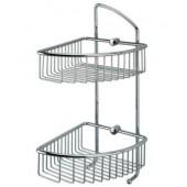 Двойная решетка корзинка для душа и ванны с крючками