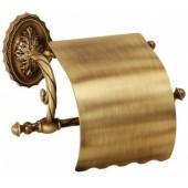 Держатель для туалетной бумаги с крышкой бронза,золото Versace (Германия)