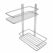 Полка для ванной двухъярусная угловая