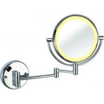 двустороннее косметическое зеркало с подсветкой