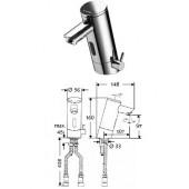 Электронный смеситель для раковины Schell Puris, для холодной/горячей воды