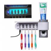 Автоматический дозатор пасты с подставкой для зубных щеток и стерилизатором