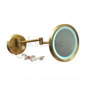 Зеркало для ванной косметическое с подсветкой бронза