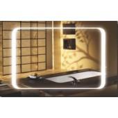 Зеркало для ванной интерьера с подсветкой