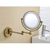 Косметическое зеркало бронза увеличительное 3х и простое