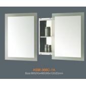Шкаф зеркальный для ванной с сдвижной дверцей