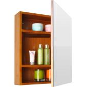 Зеркало-шкаф для ванной из дерева