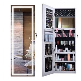 Настенный шкаф для украшений и косметики с подсветкой