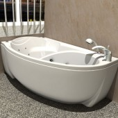 Ванна акриловая АКВАТЕК Бетта без гидромассажа 170х97